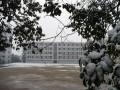 白雪覆盖的校园