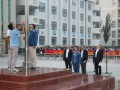 新疆喀什卫校升旗仪式