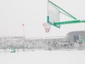 铁岭卫校冬天的运动场