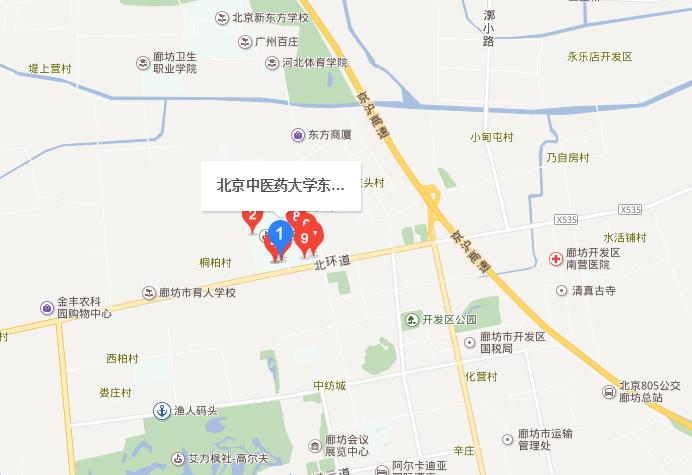 北京中医药大学东方学院地址在哪里