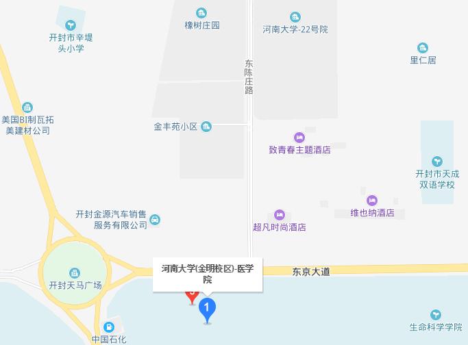 河南大学医学院2019年地址在哪里