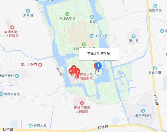 南通大学医学院2019年地址在哪里