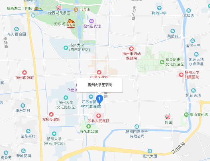 扬州大学医学院2019年地址在哪里
