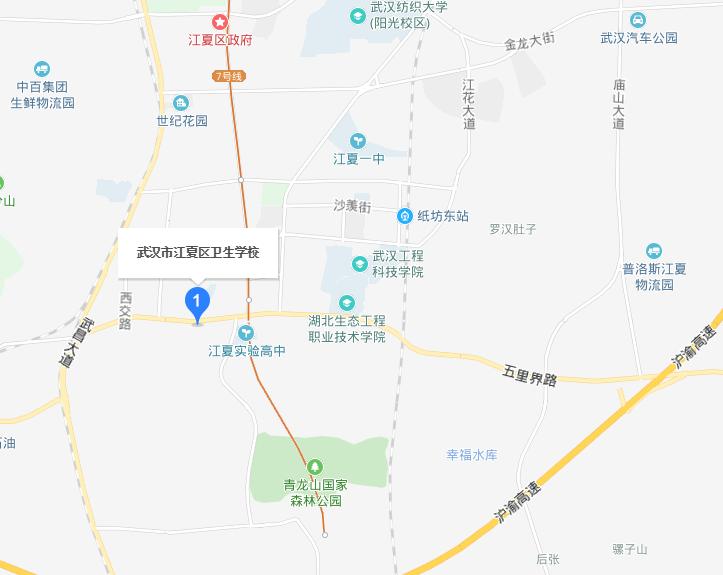 武汉江夏卫生学校2019年地址在哪里